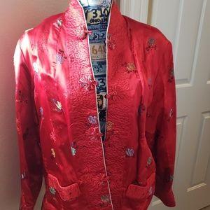 Vintage Asian style reversible jacket